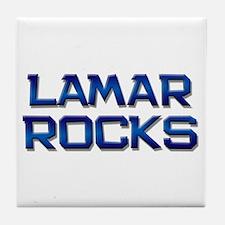 lamar rocks Tile Coaster