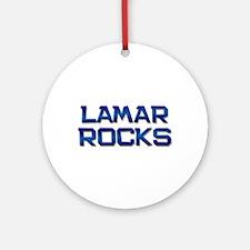 lamar rocks Ornament (Round)