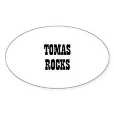 TOMAS ROCKS Oval Decal