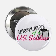 "Property of a U.S. Soldier 2.25"" Button"