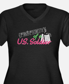 Property of a U.S. Soldier Women's Plus Size V-Nec