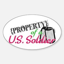 Property of a U.S. Soldier Oval Decal