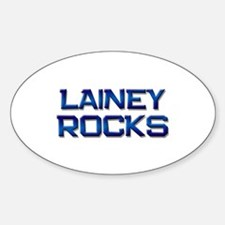 lainey rocks Oval Decal