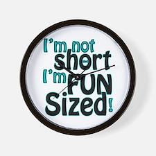 Not Short, Fun Sized Wall Clock