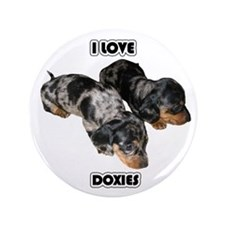 """I Love Doxies 3.5"""" Button"""
