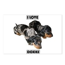 I Love Doxies Postcards (Package of 8)