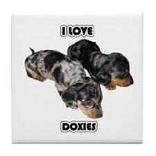 I Love Doxies Tile Coaster
