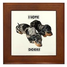 I Love Doxies Framed Tile