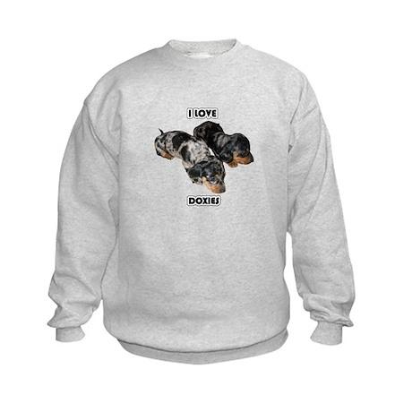 I Love Doxies Kids Sweatshirt