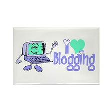 Unique I love blogging Rectangle Magnet