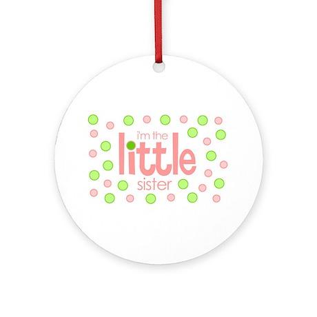 little sister t-shirt polkadot Ornament (Round)