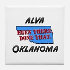 alva oklahoma - been there, done that Tile Coaster