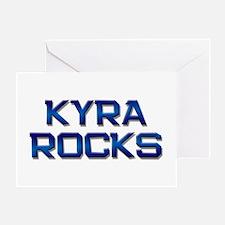 kyra rocks Greeting Card