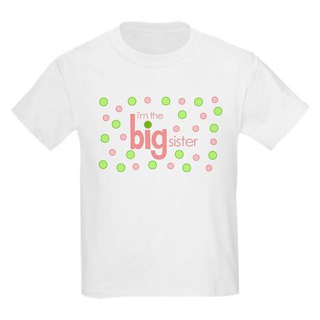 big sister t-shirt polkadot Kids Light T-Shirt