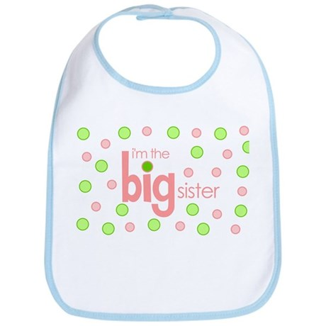 big sister t-shirt polkadot Bib