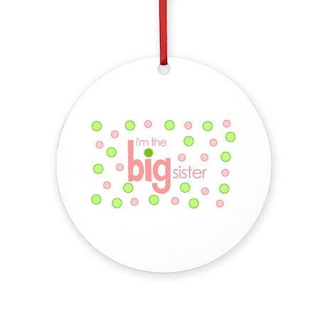 big sister t-shirt polkadot Ornament (Round)