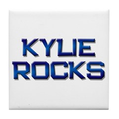 kylie rocks Tile Coaster