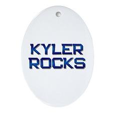 kyler rocks Oval Ornament