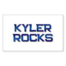 kyler rocks Rectangle Decal