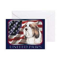 United Paws Bearded Collie Greeting Cards Pk of 10