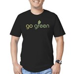 Go Green [text] Men's Fitted T-Shirt (dark)