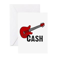 Guitar - Cash Greeting Card