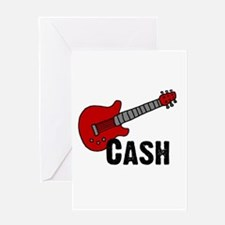 Guitar - Cash Greeting Card
