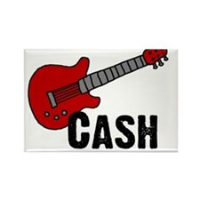 Guitar - Cash Rectangle Magnet