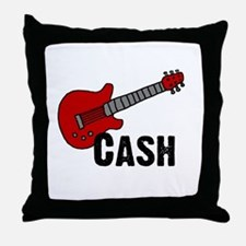 Guitar - Cash Throw Pillow