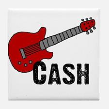 Guitar - Cash Tile Coaster