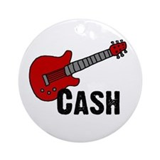 Guitar - Cash Ornament (Round)