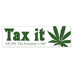 AB 390 Tax me Bumper Sticker