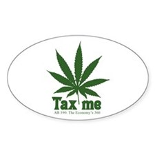 AB 390 Tax me Oval Decal