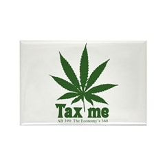 AB 390 Tax me Rectangle Magnet (10 pack)