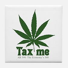 AB 390 Tax me Tile Coaster