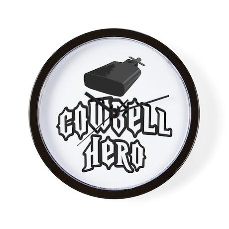 Cowbell Hero Wall Clock