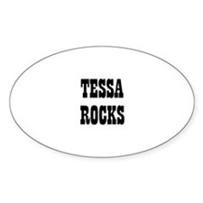 TESSA ROCKS Oval Decal