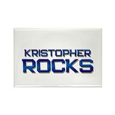kristopher rocks Rectangle Magnet