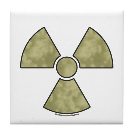 Radioactive warning tile coaster by thefrozenduck - Radioactive coasters ...