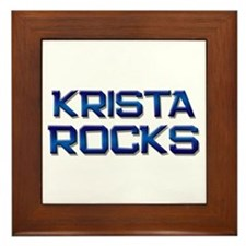 krista rocks Framed Tile