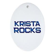 krista rocks Oval Ornament