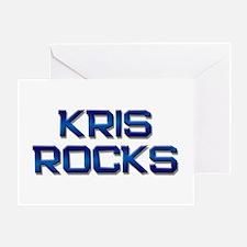 kris rocks Greeting Card
