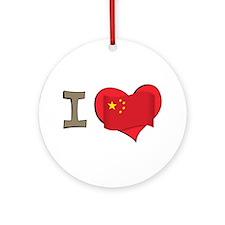 I heart China Ornament (Round)