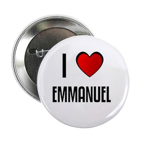 I LOVE EMMANUEL Button