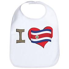 I heart Costa Rica Bib