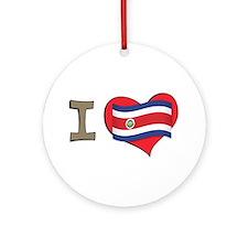I heart Costa Rica Ornament (Round)