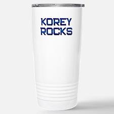 korey rocks Stainless Steel Travel Mug