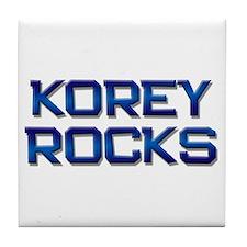 korey rocks Tile Coaster