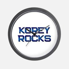 korey rocks Wall Clock
