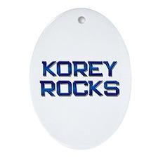 korey rocks Oval Ornament